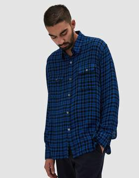 Our Legacy Country Shirt Liquid Wool Blue Check