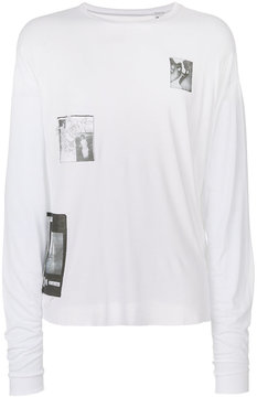 Enfants Riches Deprimes patch detailed distressed top