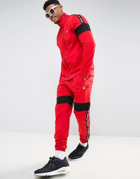 Hype x Coca Cola Skinny Track Joggers In Red With Taping