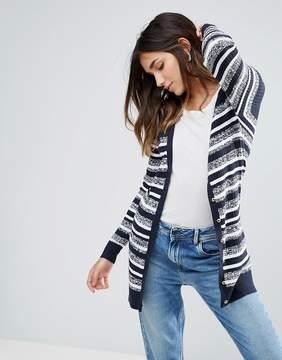 Brave Soul Button Through Stripe Cardigan