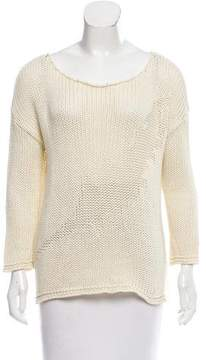 Anine Bing Scoop Neck Rib Knit Sweater
