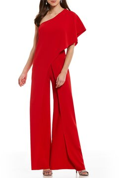 Antonio Melani Nora One Shoulder Flounce Jumpsuit