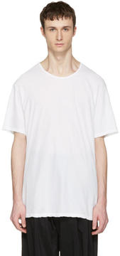 Attachment White Slight Oversized T-Shirt