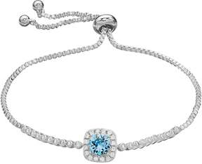 Brilliance+ Brilliance Cubic Zirconia Halo Bolo Bracelet with Swarovski Crystals