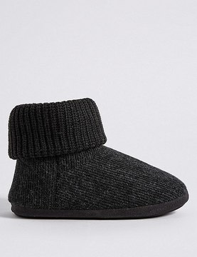 Marks and Spencer Knitted Slip-on Boots with FreshfeetTM