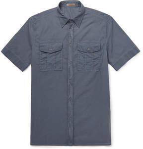 Bottega Veneta Garment-Dyed Washed Cotton-Poplin Shirt