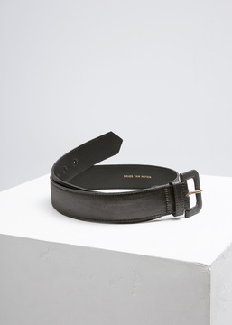 Dries Van Noten Black Metallic Belt