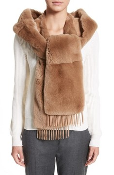 Max Mara Women's Genuine Rabbit Fur Scarf