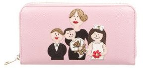 Dolce & Gabbana Dauphine Print Leather Wallet