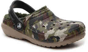 Crocs Boys Classic Lined Camo Toddler & Youth Clog