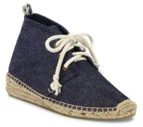 Soludos Demi-Wedge Canvas Espadrille Booties