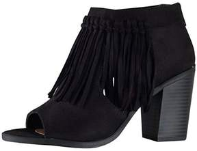 Soda Sunglasses Fringe Accent Booties