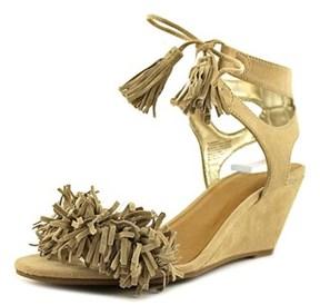 Material Girl Haniya Open Toe Leather Sandals.