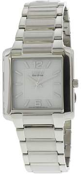 Citizen Men's Eco-Drive BJ6431-56A Silver Stainless-Steel Dress Watch