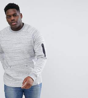 ONLY & SONS PLUS Raglan Sweatshirt With Technical Arm Pocket