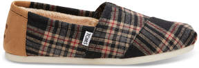 Toms Black Holiday Plaid Men's Classics