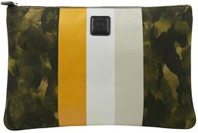 Ghurka Green Cloth Clutch Bag
