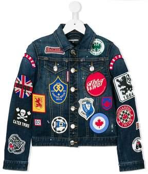 DSQUARED2 patch denim jacket