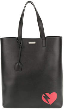 Saint Laurent lightning heart shopping tote