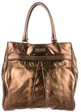 Marc Jacobs Metallic Leather Tote - GOLD - STYLE