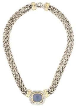 David Yurman Chalcedony Albion Double Strand Necklace