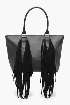boohoo Buckle & Fringe Day Bag