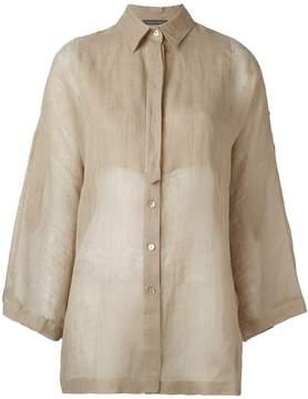 Alberta Ferretti bell-sleeve shirt