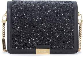 Michael Kors Jade Black Leather Pochette With Stones - NERO - STYLE