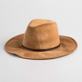 World Market Tan Faux Suede Rancher Hat