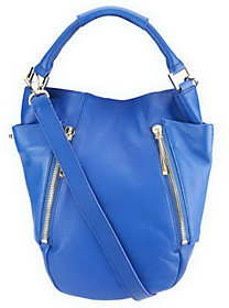 As Is Kelsi Dagger Ayden Pebble Leather Convertible Hobo Bag