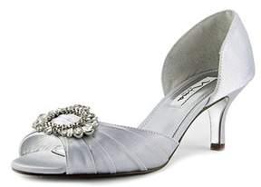 Nina Womens Crystah Open Toe Bridal Slide Sandals.