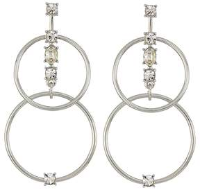 GUESS Linked Rings Earrings with Stone Accents Earring