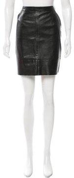 Celine A-Line Leather Skirt
