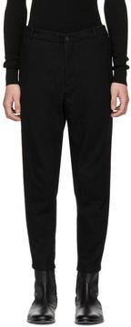 Robert Geller Black Brushed Wool Trousers