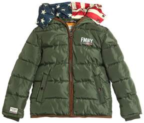 Fred Mello Hooded Nylon Puffer Jacket