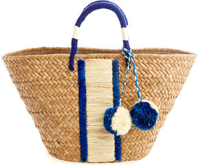 Vineyard Vines Kayu Striped Straw Basket Bag