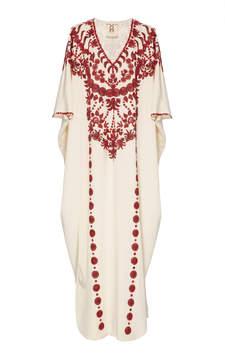 Figue Cassia Embroidered Silk Caftan
