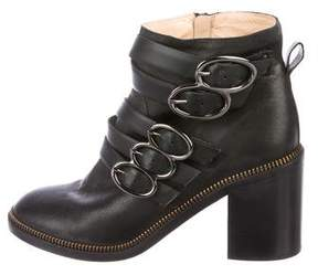 Jerome C. Rousseau Leather Buckle Boots