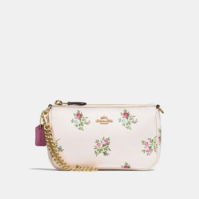 COACH Coach Nolita Wristlet 19 With Cross Stitch Floral Print - LIGHT GOLD/CHALK CROSS STITCH FLORAL - STYLE