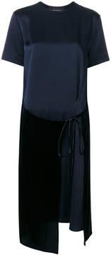 Cédric Charlier T-shirt dress with velvet wrap front