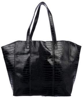 Neiman Marcus Embossed Leather Tote