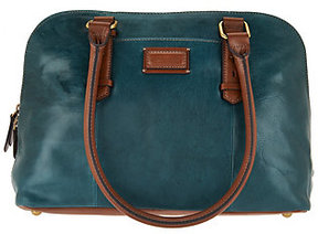 Tignanello As Is Glazed Vintage RFID Dome Satchel