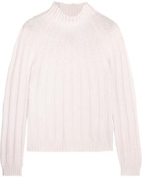 Bottega Veneta Ribbed Cashmere Turtleneck Sweater - Ivory
