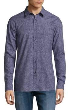 HUGO Elisha Abstract-Print Slim-Fit Shirt