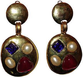 One Kings Lane Vintage Chanel Gripoix Chandelier Earrings