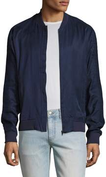 Lot 78 Lot78 Men's Crepe Bomber Jacket