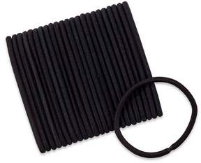 Scunci 5mm No Damage Thick Hair Black Elastics - 24ct