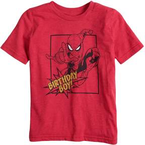 Spiderman Boys 4-10 Jumping Beans Marvel Birthday Boy Graphic Tee