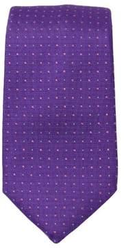HUGO BOSS Men's 7.5cm Italian Silk Geo Dot Tie - PURPLE - ONE SIZE