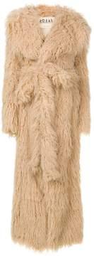 Awake long faux fur coat